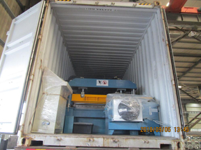 Delivery of cut to length machine to Mexico on September 06,2018