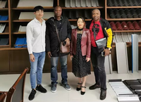 Customers for inspecting step tile roll forming machine on October 25,2019