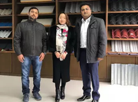 India customer visited for inspecting deck roll forming machine on Feb.01,2019