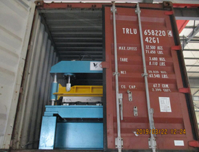 Delivery of RN100 roll forming machine on March 22,2019