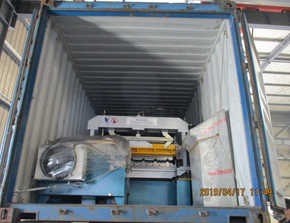 Delivery of Aluminium Step Tile Roll forming machine on April 17,2019
