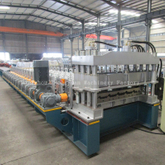 6m/min Production Speed Step Tile Roll Forming Forming Machine with Gear Box Transmission